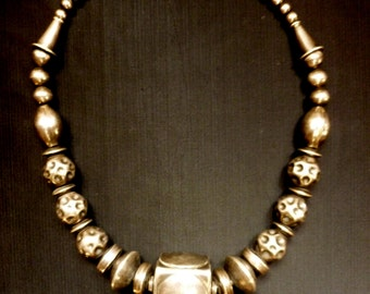 Stunning Sterling Silver Tribal Big Necklace. Tribal-Ethnic Jewelry