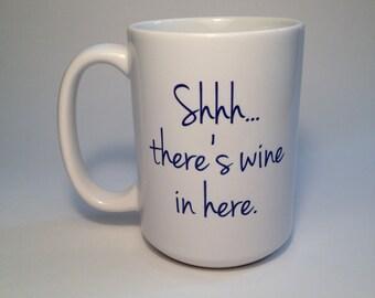 Custom Coffee Mug, Personalized Mug, Custom Gift for Wine and Coffee Lovers