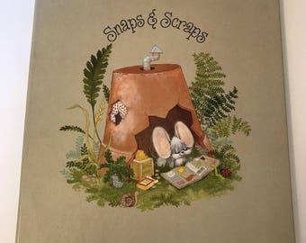 Vtg Hallmark Scrapbook Cheddar & Co Snaps Scrapes Mouse Mice Gray Photo Album