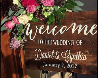 Rustic Wedding Welcome Sign, Wood Wedding Sign, Rustic Wedding Decor, Country Wedding Bestseller Wedding Sign