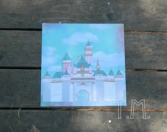Disneyland Sleeping Beauty's Castle Paper Art