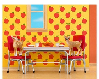 35% OFF SALE Retro kitchen animal art print with fawns: Fawning