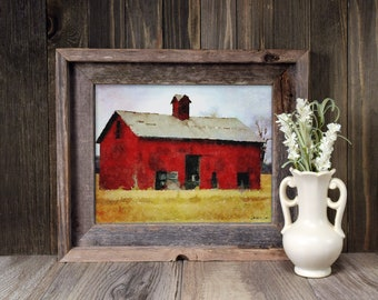 Barn No. 1 Watercolor Art Print, Midwest Barn, Farmhouse Wall Decor, Modern Farmhouse