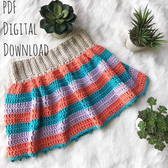 The Lola Skirt PDF DIGITAL Crochet PATTERN Download, Kids skirt ...