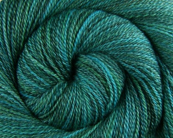 Handspun Yarn Fingering weight - IDES OF MARCH - Hand Dyed Blue Faced Leicester wool, 450 yards, hand spun weft yarn, gift for knitter