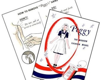 Vintage Peggy McCall Mannequin Manikin Replacement Brochures