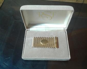 R S F GOLDEN MONEY CLIP Engravable