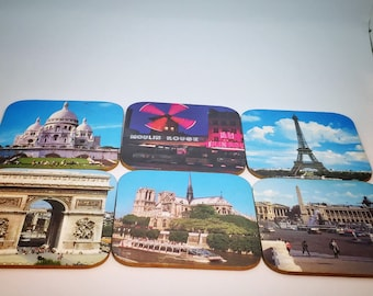 Souvenir Coasters with MCM Photos of Iconic Paris Landmarks