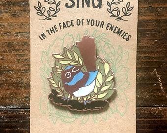 Fairy Wren Enamel Pin Badge