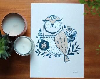 A4 Owl Digital Print