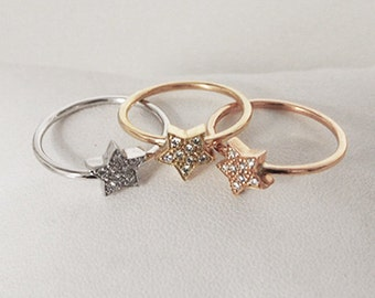 Star and diamond ring