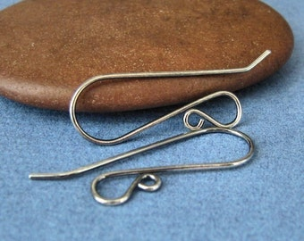 Hot French Earwires, Sterling Silver Handmade Interchangeable Earrings, Antiqued, 2 pairs