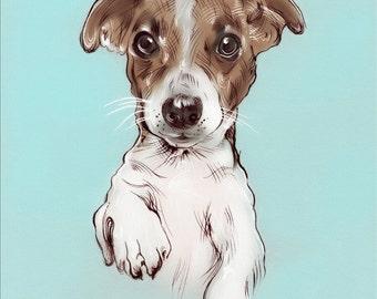 Custom DIGITAL Pet Portrait. Printable Gift. Personalized -Decor-Printable Art-Dog Lover-Dog-Custom Made-Dog Portrait-Cat