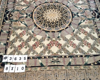 8' x 10' Pakistani Persian Star Design Oriental Rug - Hand Made - 100% Wool