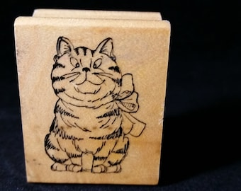 Sassy Cat  Used Rubber stamp View all Photos