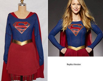 Supergirl Costume Replica or Simple... Melissa Benoist Super Girl Costume TV Series Costume... Choose your Style / Price...