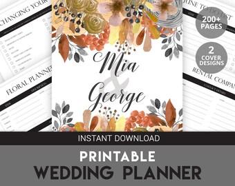 Printable Wedding Planner | Wedding Printable Planner | Wedding Organizer | Printable Wedding Organizer