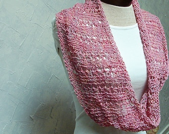 Pattern for Lace Cowl Infinity Scarf Handknit Knit Pattern