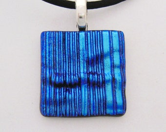 Dichroic glass necklace. dichroic jewelry.