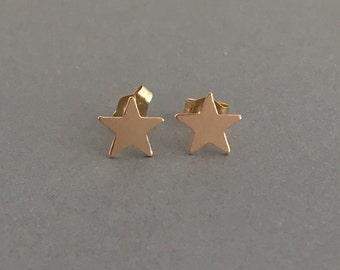 Star Post Earrings Gold Fill, Rose Gold Fill, or Sterling Silver