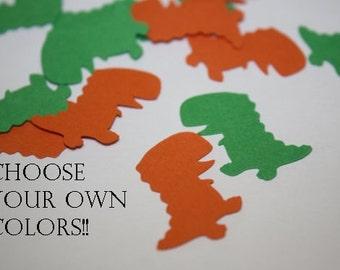 Choose your colors! T-Rex Dinosaur Die Cut Confetti - 200 pieces