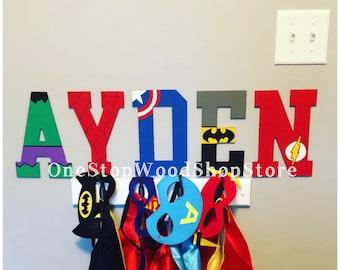 8.25in Superhero letters, super hero name, super heroes, superheroes, batman, marvel letters, dc letters