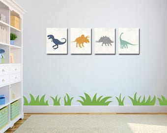 Dinosaur Art - Dinosaur Decor - Dinosaur Nursery - Baby Boy Nursery - Dinosaur Wall Art - Boys Room Decor - Dinosaur Art Print - Nursery Art