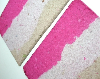 Neapolitan Handmade Recycled Paper Panels (For Drawing, Painting Or Other Craft Projects)