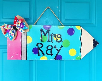 Teacher Gift Pencil Hanger Classroom Door Hanger