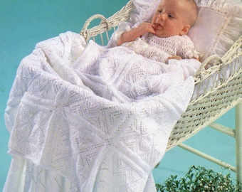 Baby Knitting Pattern, Baby Blanket Knitting Pattern, Motif Kniitting Pattern, Baby Shower Gift, INSTANT Download Pattern PDF (2319)