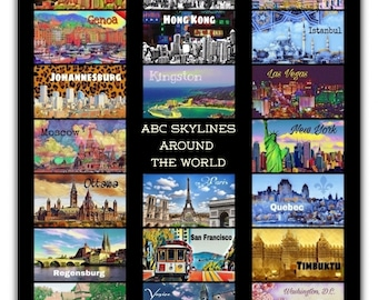 ABC Skylines Around the World Poster