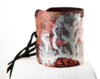 Leather Jewelry Cuff Bracelets For Women, Leather Wrist Cuffs, Leather Accessories