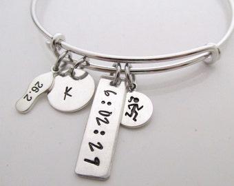 Marathon Jewelry - Runner Girl Bracelet - 26.2 bracelet - running jewelry - personalized jewelry - gift for runner