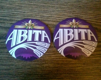 Abita upcycled coasters,large pair of Purple Haze