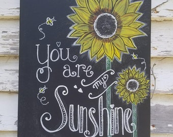 You Are My Sunshine Canvas Etsy