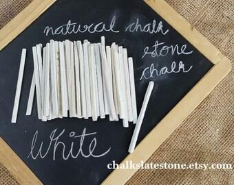 GRADE A FINE White Slate Pencils 250 Grams approximately Chalk Pencils Natural Slate Stone Set Of 50 Pencils