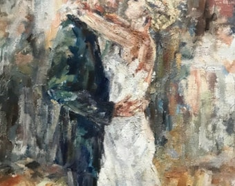 Wedding Portrait: Custom Oil Painting