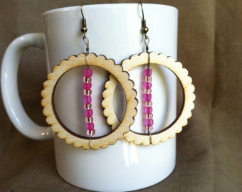 In the Pink... Extreme Decaf Earrings .. FREE U.S. SHIPPING