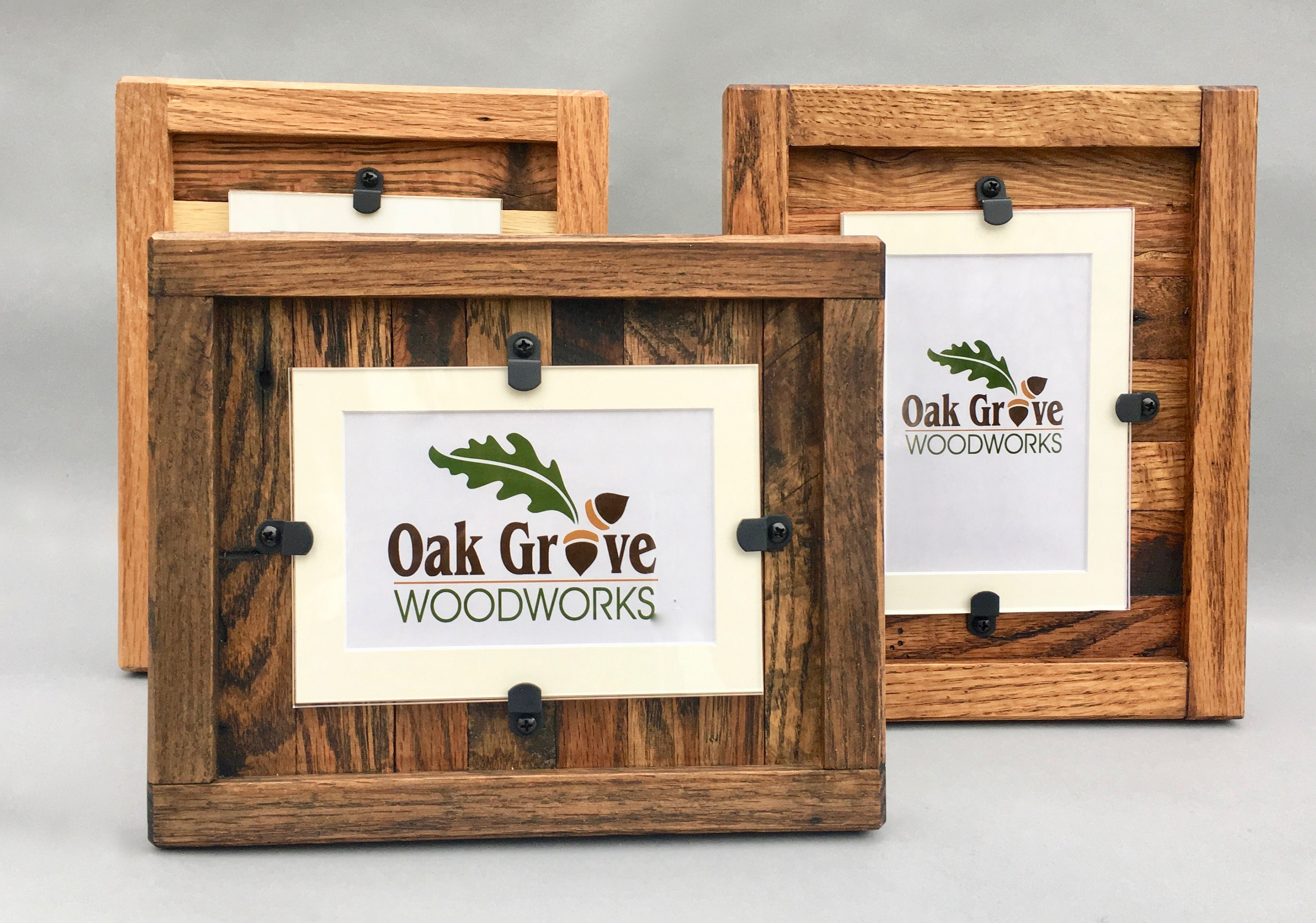 rustic wood frames reclaimed wood frame set of 3 8 x 10 picture
