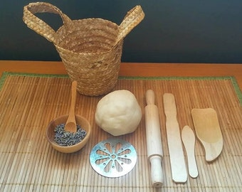 Lavender Play Dough Basket