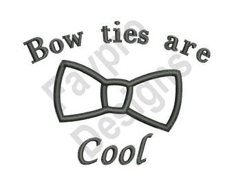 Bow Ties Are Cool - Machine Embroidery Design