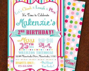 Girly birthday party invitation cupcake party sweet 16 girly birthday party invitation jump house party bounce house invitation customizable 5x7 printable boy girl combined party stopboris Choice Image