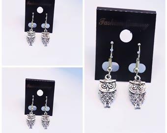 Silver Owl Dangle Earrings | Silver Owl | Lilly Rose