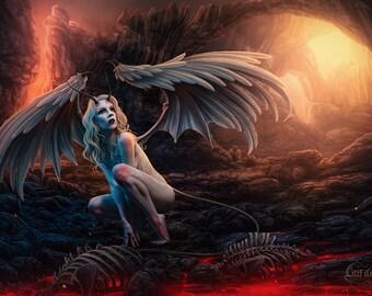 """A4 print """"Fallen Angel"""""""