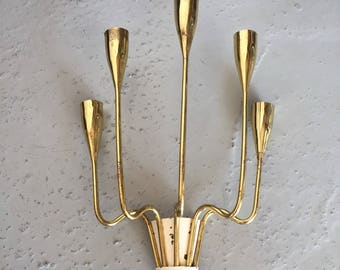 Mid Century rare brass large sconce - 5 arms - luxurious lighting - Germany made