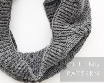 Infinity Scarf Knitting Patterns for Women Printable PDF Instant Download, Knitted Scarf, Infinity Scarves, Neck Warmer