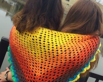 Multicolor shawlet