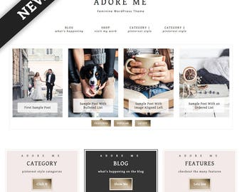 Adore Me WordPress Theme — Responsive Wordpress Theme — Genesis Child Theme — Wordpress Blog Theme — Feminine Wordpress Theme — Template