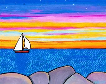 Sunset Sailboat Shelagh Duffett, Nova Scotia