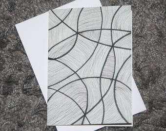 "Folded Card ""Lines 04"""